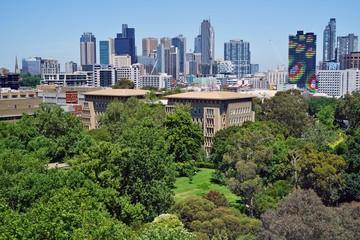 Day view of the Melbourne City Centre central business district (CBD) skyline, Australia