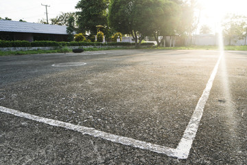 Clay pitch street volleyball court