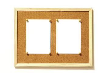 コルクボードとメモ用紙 白バック