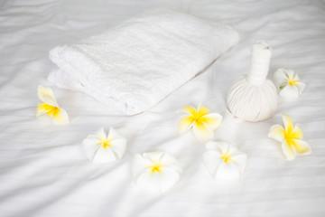A set of spa and massage set.