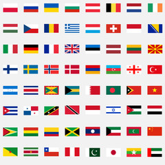 A large set of flags. Flat design, vector illustration, vector.