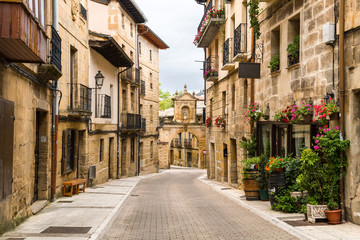 peaceful street of rioja town, Spain
