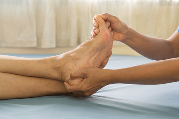 Foot Massage  old women
