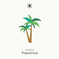 トロピカル アイコン ヤシの木