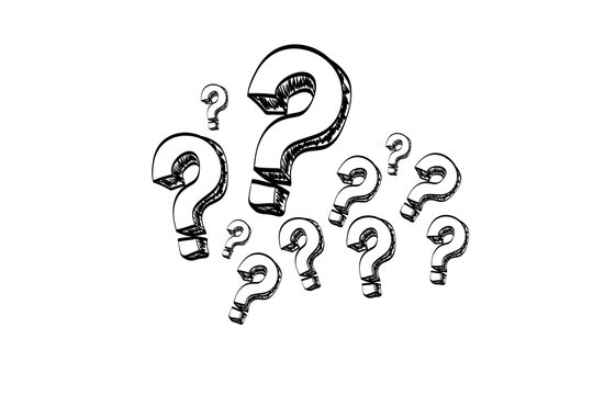 Question mark isolated on a white background