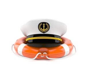 Captain's hat with life buoy