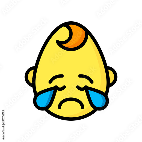 emoji icons cry baby boy ultra color stock image and royalty