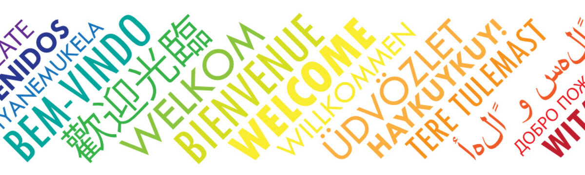 """WELCOME"" Tag Cloud translated into many languages"
