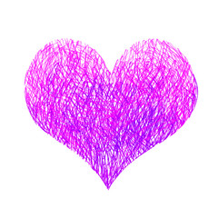 Abstract bright pink and lilac heart
