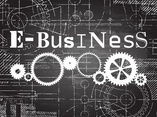 E Business Blackboard Tech Drawing