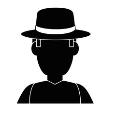 Gardener farmer avatar icon vector illustration graphic design