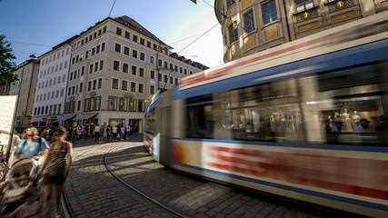 Tramway, City of Munich, Bavaria, Germany