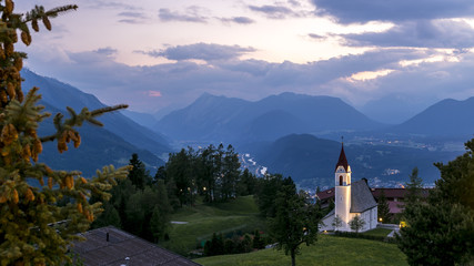 A little place of happiness at sunset Mosern, Tyrol, Austria