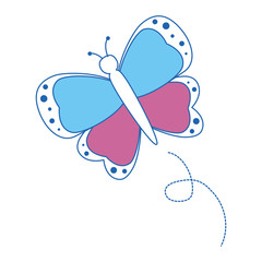 Beautiful butterfly isolated icon vector illustration graphic design