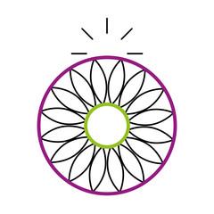 mandala retro culture icon vector illustration design