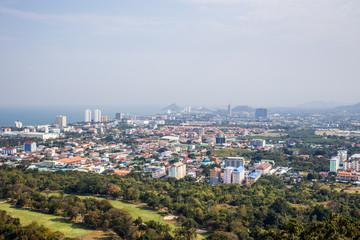View of the city from the view point of Hua Hin
