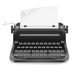 typewriter old retro vintage icon stock vector illustration