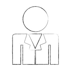 professional doctor avatar silhouette vector illustration design