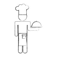 chef avatar silhouette icon vector illustration design