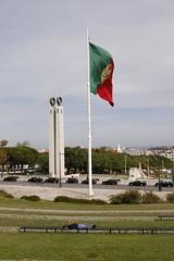 Fototapete - Lisbonne - Drapeau