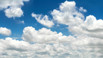 Fototapete - clouds in the blue sky nature background landcape.