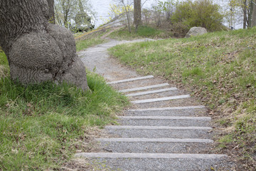 Steps on Footpath; Skeppsholmen Island; Stockholm
