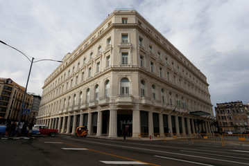 A renovated Belle Epoque shopping mall housing the Gran Hotel Manzana in the top floors and luxury stores on the ground floor, is seen in Havana