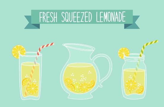 Cute vintage card Fresh Lemonade