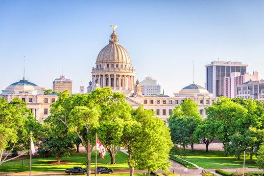 Jackson, Mississippi, USA downtown Cityscape