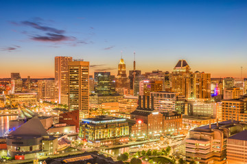 Baltimore, Maryland, USA, Skyline.