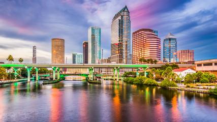 Fotomurales - Tampa, Florida, USA Skyline.