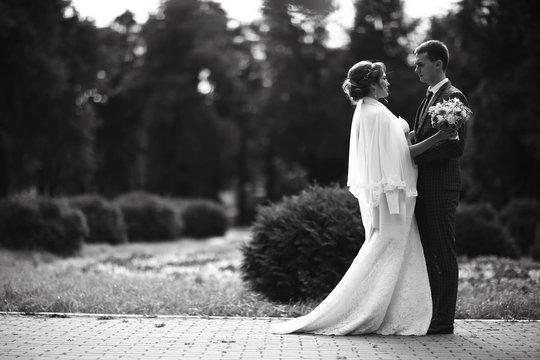 Wedding black and white photo poster