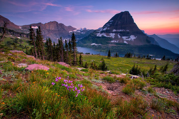 Hidden Lake Trail, Glacier National Park, Montana, USA Fototapete