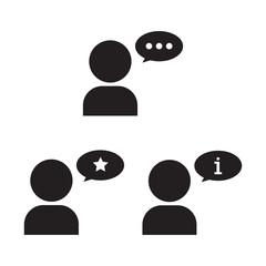 Customer opinion icon vector illustration design