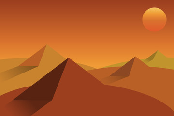 desert landscape.vector and illustration