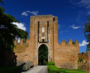 Albornoz Fortress public park entrance in Orvieto