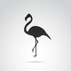 Flamingo vector icon.