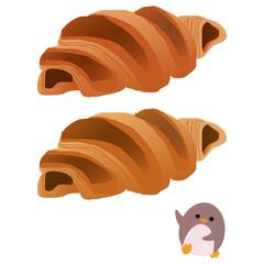 チョコクロワッサンとペンギン