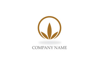 organic leaf nature logo