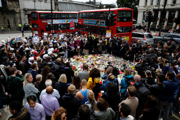 Muslims attend an event near the scene of the recent attack at London Bridge and Borough Market in central London