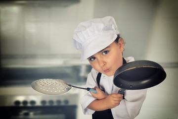 Six years chef girl