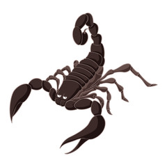 Cartoon brown Scorpion
