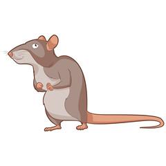 Cartoon smiling Rat