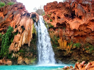 Havasu Falls, Havasupai Indian Reservation, Grand Canyon, Arizona