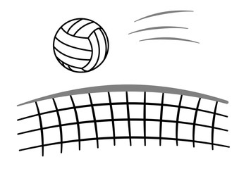 Sport ball voleyball with net