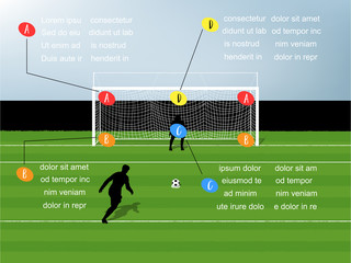 info graphic illustration vector of penalty kick soccer