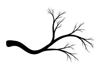 branch silhouette vector symbol icon design