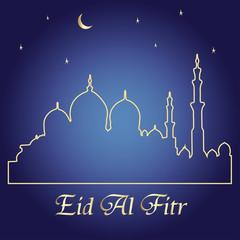 Ramadan Greeting illustration card