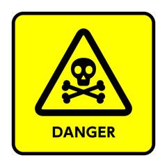 サイン 危険 ドクロ,骨,骸骨,黄色,三角
