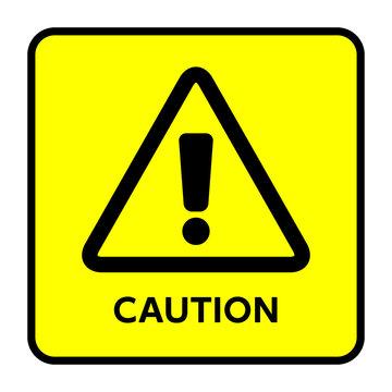 サイン 注意 Caution,!,黄色,三角